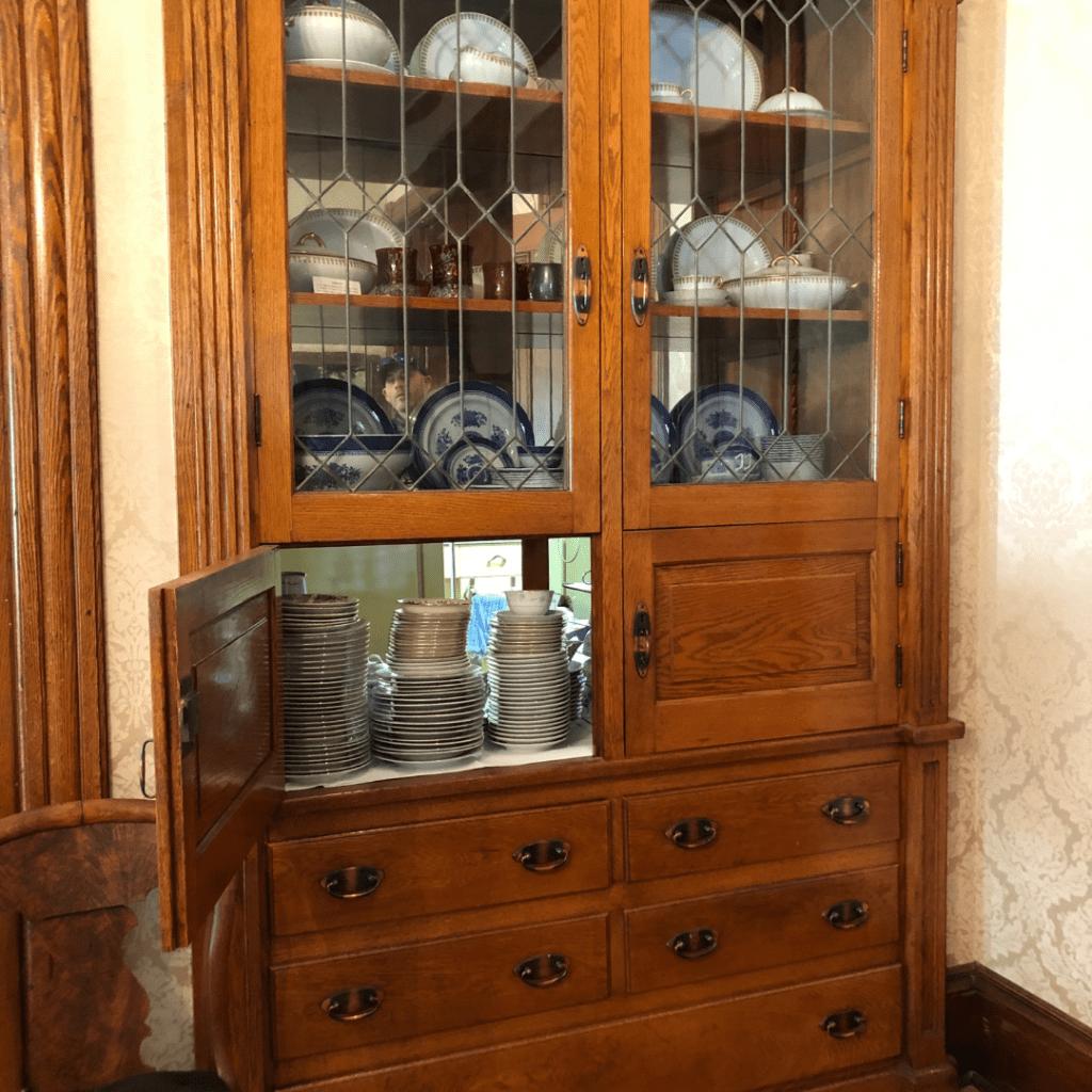 oller house waynesboro interior china cabinet