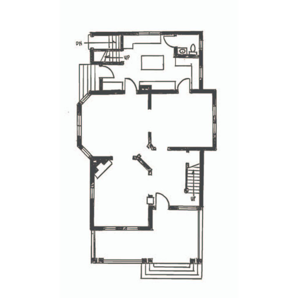 oller house waynesboro layout cad blueprint